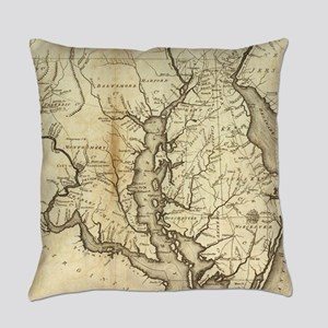 Vintage Map of Maryland (1796) Everyday Pillow